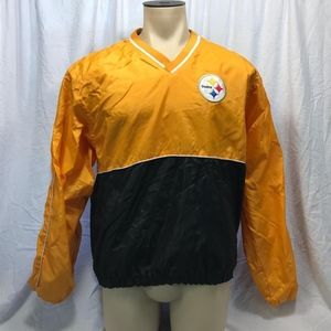 NFL Football Mens Pittsburgh Steelers Windbreaker